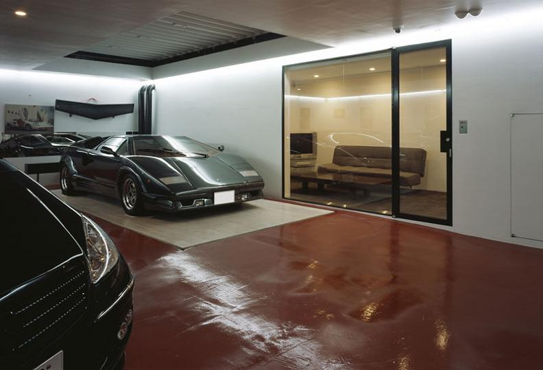 lamborghini countach underground garage to living room Want to See a Lamborghini in a Living Room?