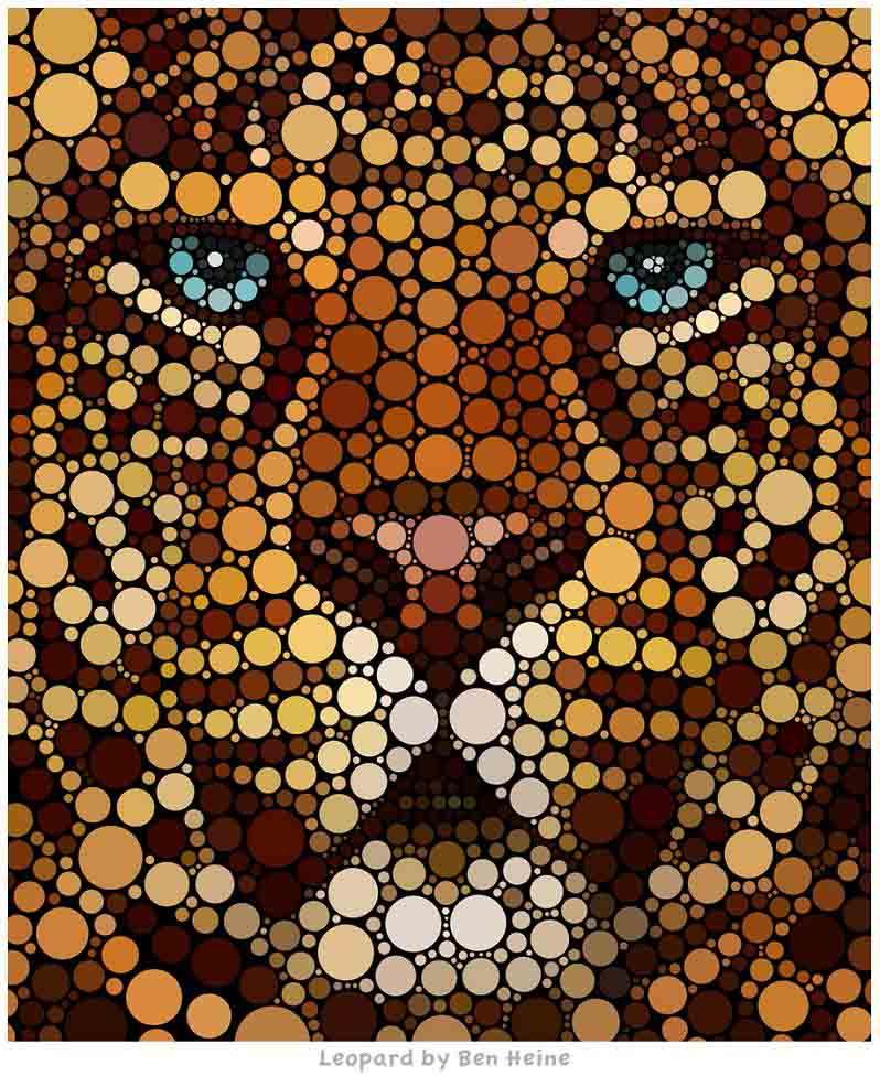 lion king digital art circles ben heine Art Made Entirely of Circles by Ben Heine