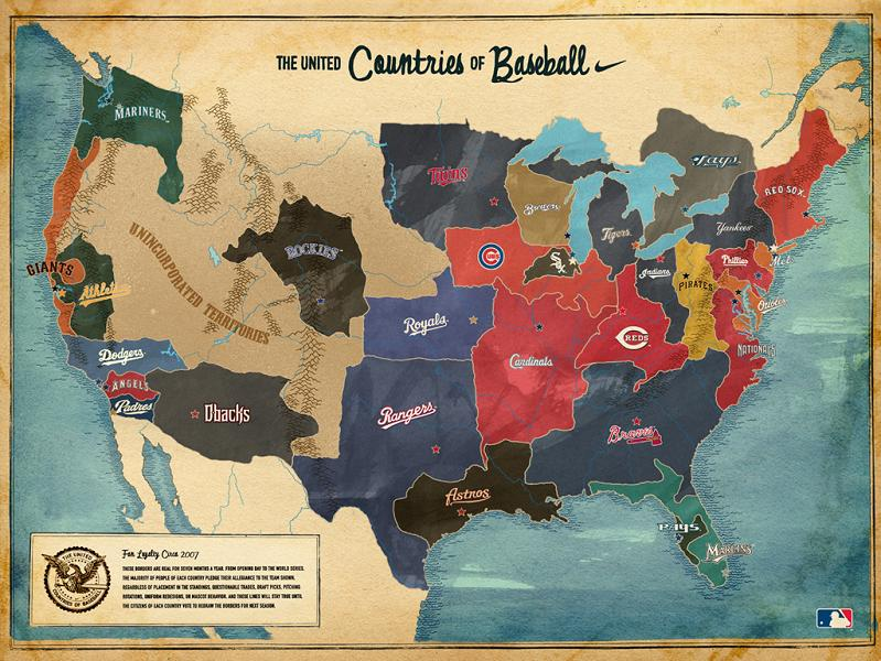 map of usa by baseball team Picture of the Day   April 5, 2010
