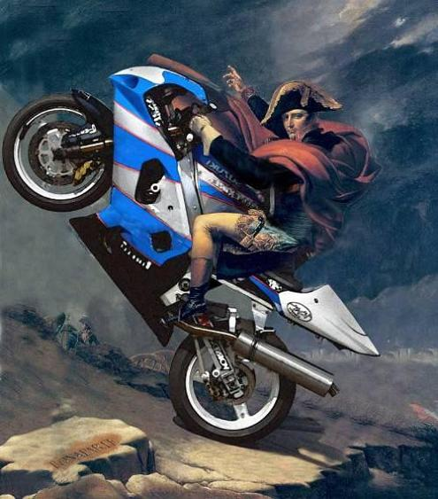 napoleon on a motorcycle Picture of the Day   April 3, 2010