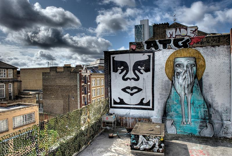 obey bestever part2ism tamara mural Awesome Street Art by Best Ever