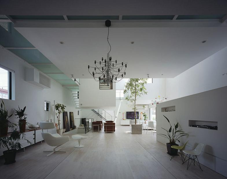 open conept house in tokyo Want to See a Lamborghini in a Living Room?