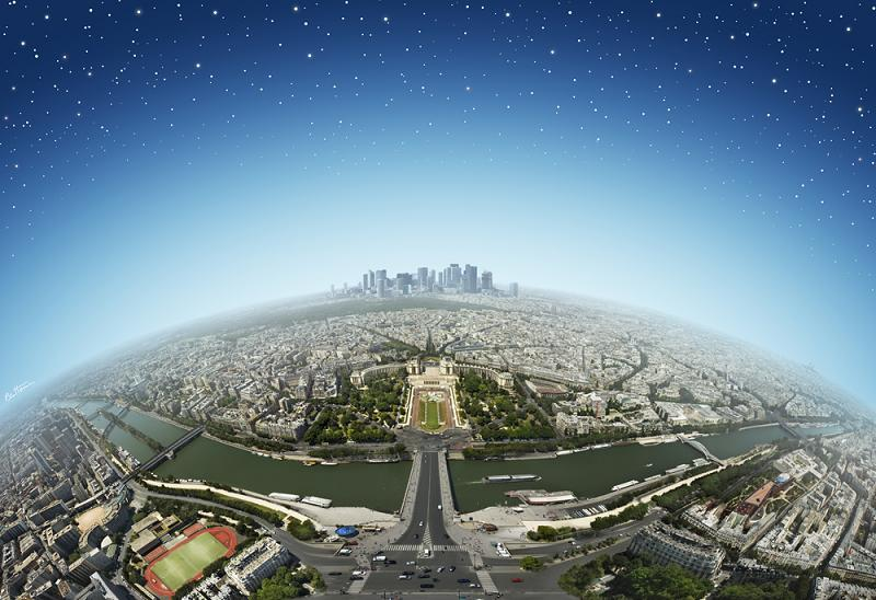 panoramic view of paris from top of eiffel tower Picture of the Day   April 15, 2010
