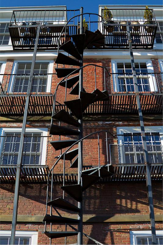 spiral staircase fire exit 25 Stunning Images of Spiral Staircases