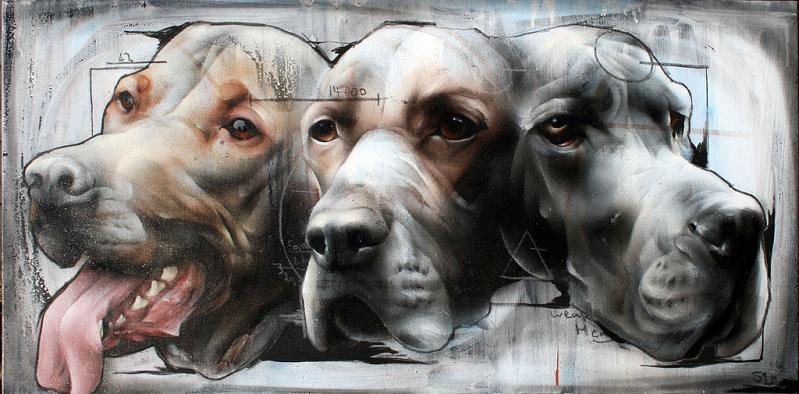 three headed dog street art by best ever Awesome Street Art by Best Ever