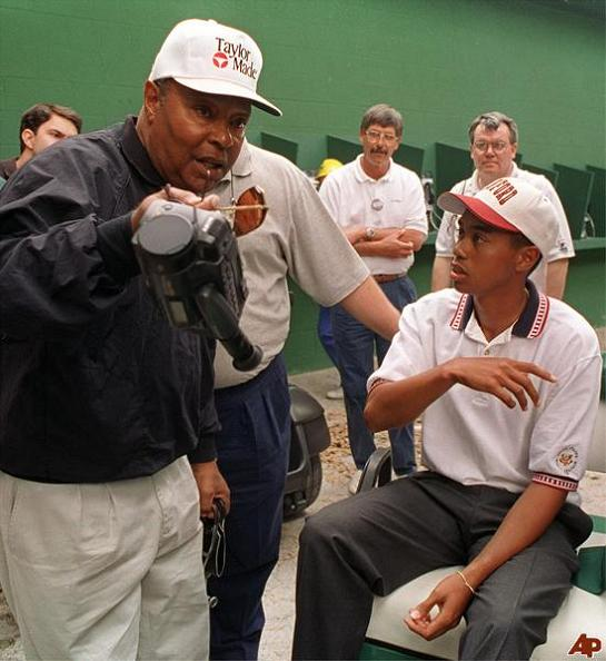 tiger as a teenager with his father earl woods The Recurring Marketing Theme: Tiger and his Dad, Earl Woods