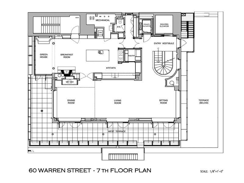 townhouse in sky floor plan A Townhouse in the Sky