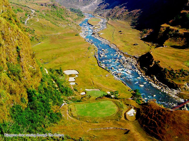 amazing aerial of himalayan golf course The Most Exotic Golf Course in the World