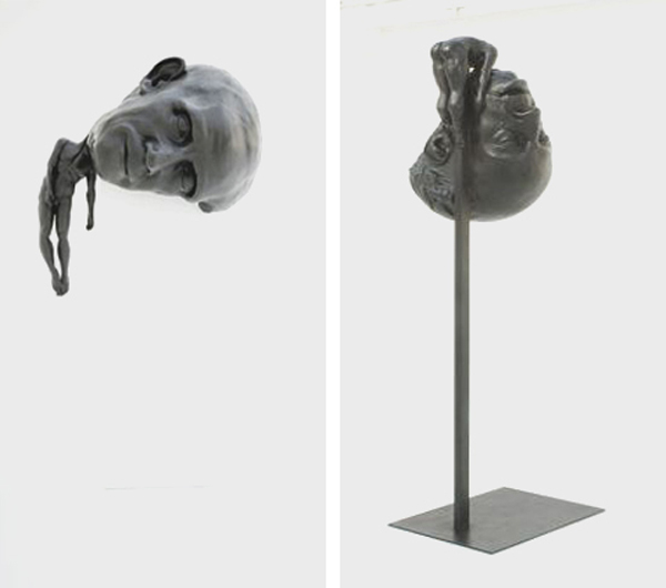 artist thomas lerooy Ever Seen a Sculpture with a Gigantic Head?