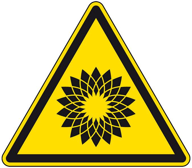 bp logo hazard caution sign Rebranding the BP Logo: The 25 Funniest and Most Creative