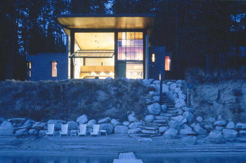 chicken point cabin in idaho olson kundig Industrial Chic   Modern Cabin with Giant Window for a Wall