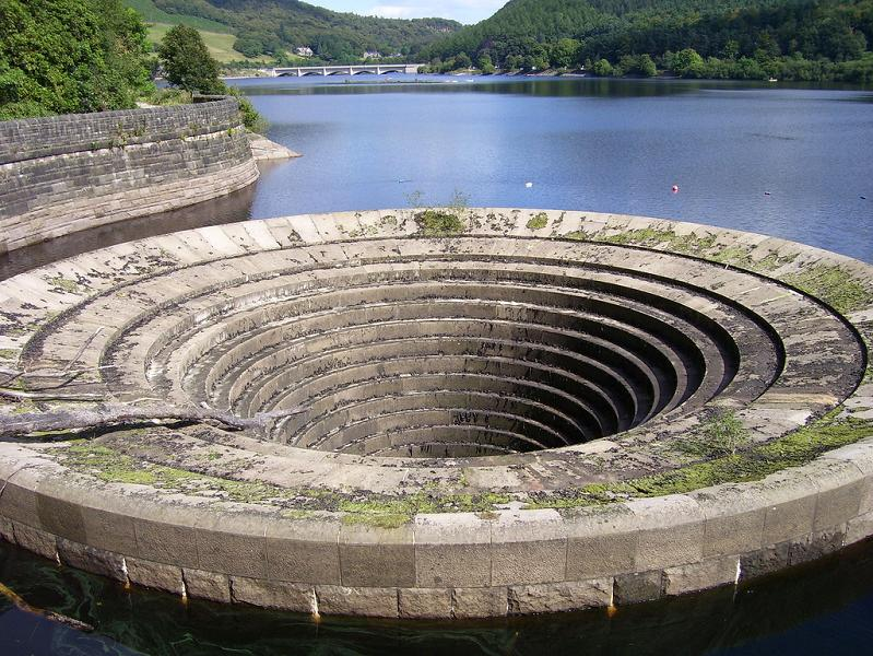 ladybower plughole Bell Mouth Spillways: How Giant Holes in the Water are Possible
