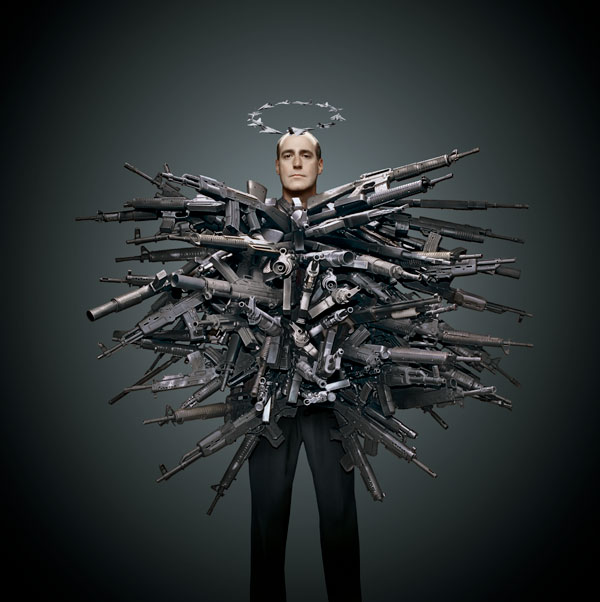 man covered in guns phillip toledano hope and fear Hope and Fear by Phillip Toledano