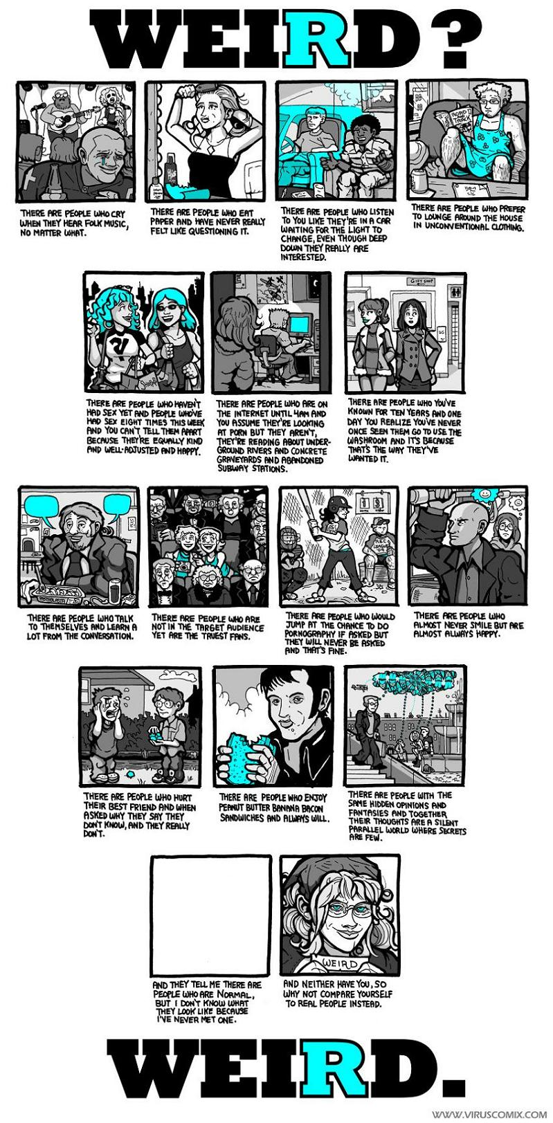 there are people who weird comic blue Weird? [Comic Strip]