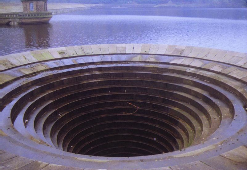 water outlet ladybower resevoir Bell Mouth Spillways: How Giant Holes in the Water are Possible