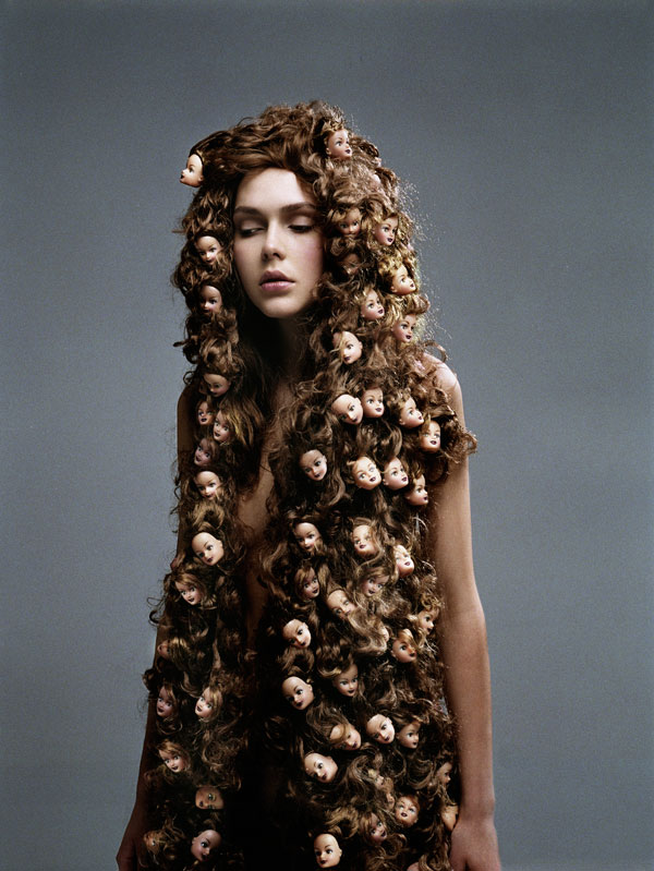 womans hair covered in doll heads phillip toledano hope and fear Hope and Fear by Phillip Toledano