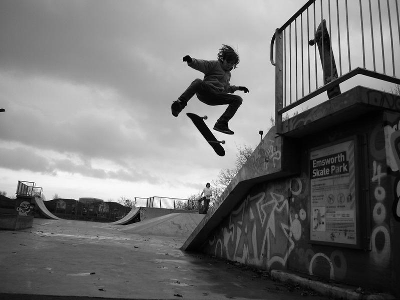 10 black white kick flip The Art and History of the Kickflip [21 pics]
