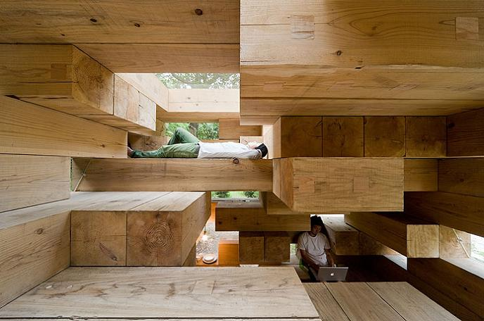 a series of beams Remember Jenga? This is the House Version of It