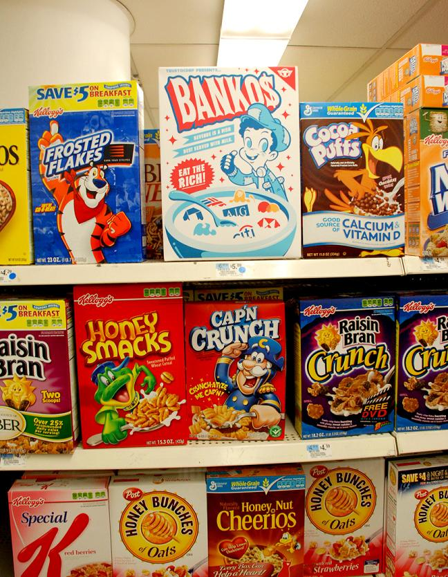 bankos cereal funny box trusto corp Signs of the Times by Trusto Corp