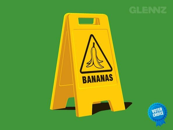 caution bananas 25 Hilarious Illustrations by Glennz