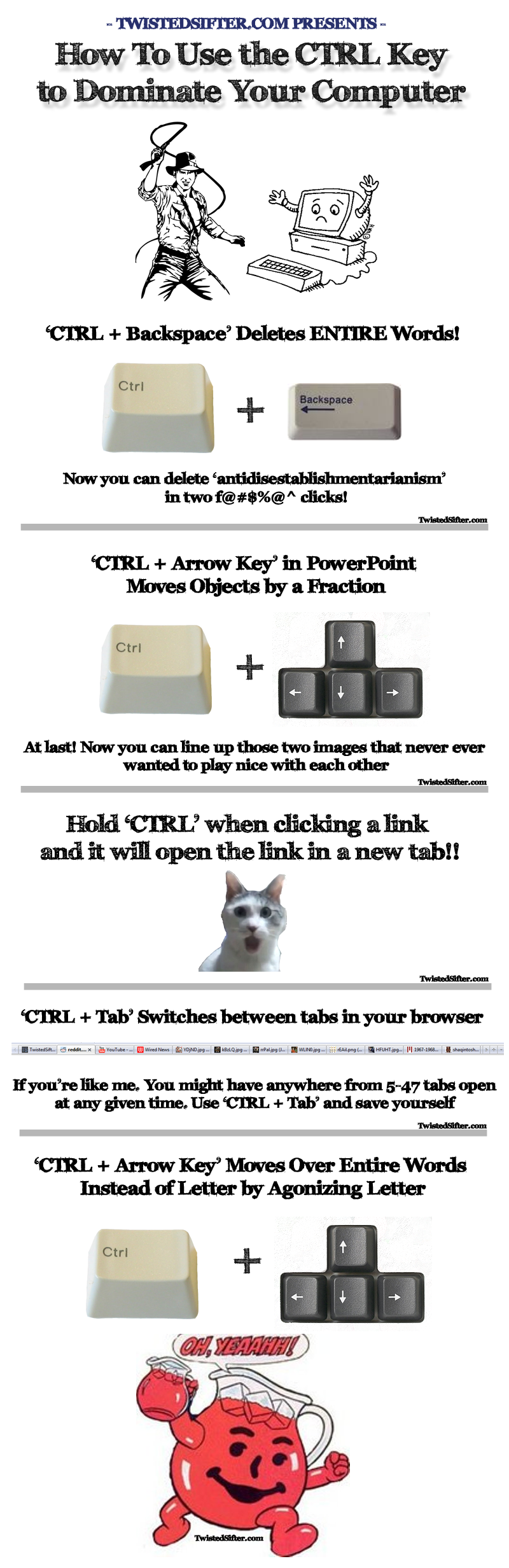 ctrl key shortcuts infographic HOW TO Use the CTRL Key to Dominate Your Computer