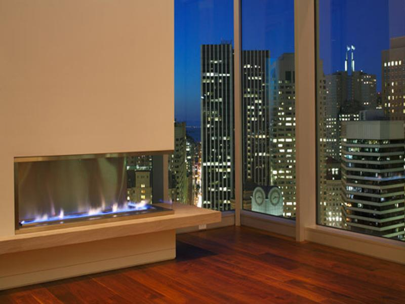 gorgeous fireplace The Craziest Penthouse in San Francisco