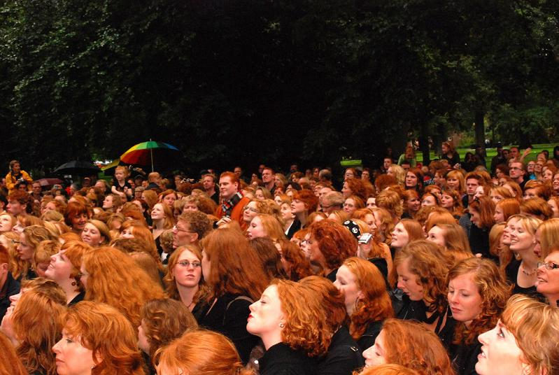 large group of redheads parting the red sea Picture of the Day   June 5, 2010