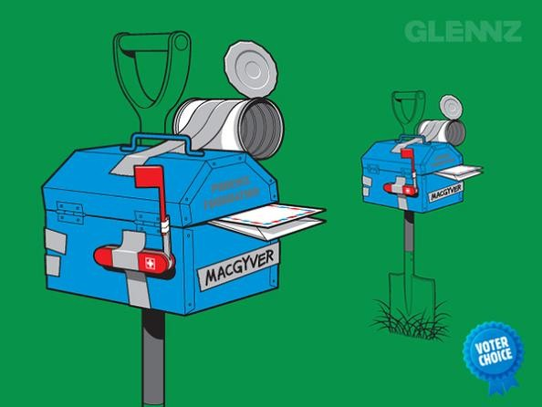 macgyvers mail box 25 Hilarious Illustrations by Glennz