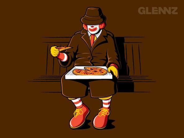 ronald-mcdonald-eating-a-pizza