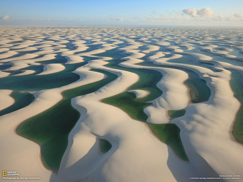 sand dunes in brazil with water lagoons between Picture of the Day   June 28, 2010