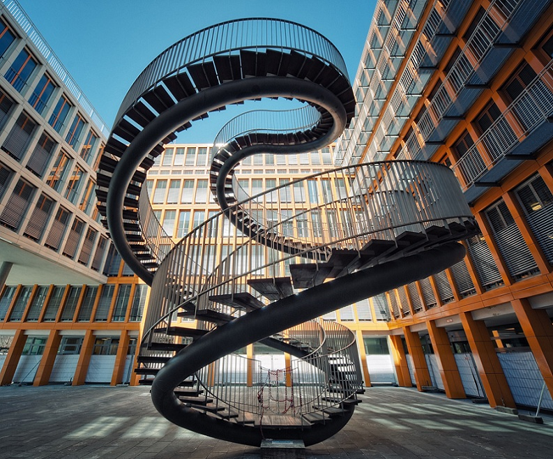 spiral staircase sculpture kpmg munich olafur eliasson umschreibung Picture of the Day   Endless Sprial