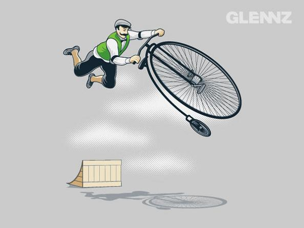 tricks-with-old-time-bikes