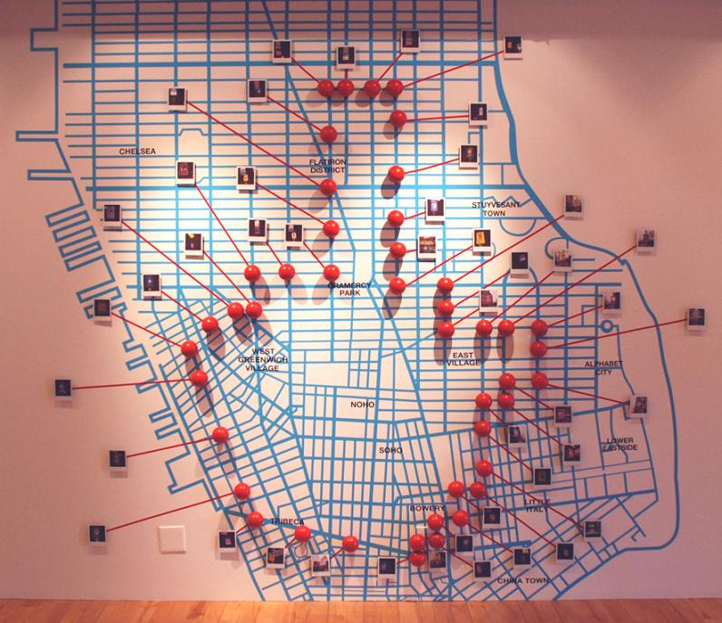 trusto corp map of spots hit in new york Signs of the Times by Trusto Corp