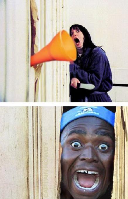 vuvuzela the shining jack nicholson The 10 Funniest Vuvuzela Pictures