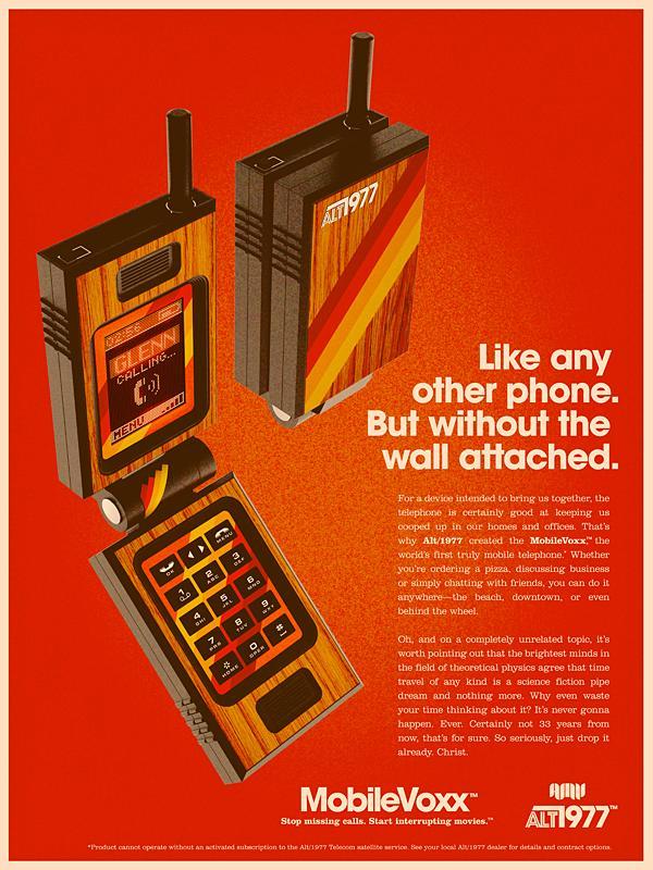 alex varanese retro ad design Back to the Future: Retro 70s Ads for Todays Gadgets