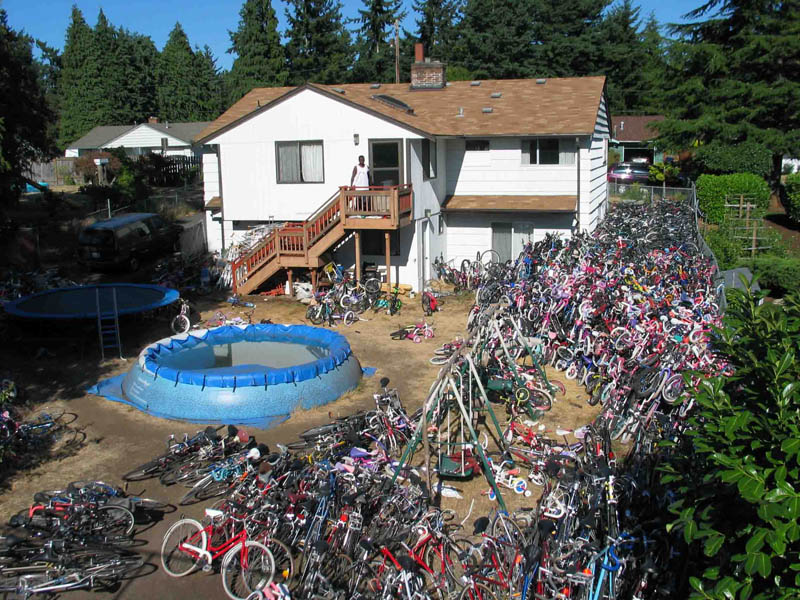 backyard full of stolen bikes Picture of the Day   July 17, 2010