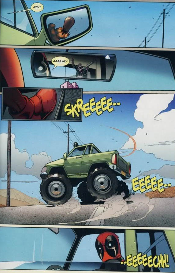 deadppol comic rocket through window Aawk! [Comic Strip]