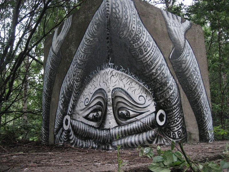 dope art by phlegm Incredible Street Art Illustrations by Phlegm