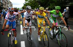 four jerseys together tour de france 2010 four jerseys together tour de france 2010