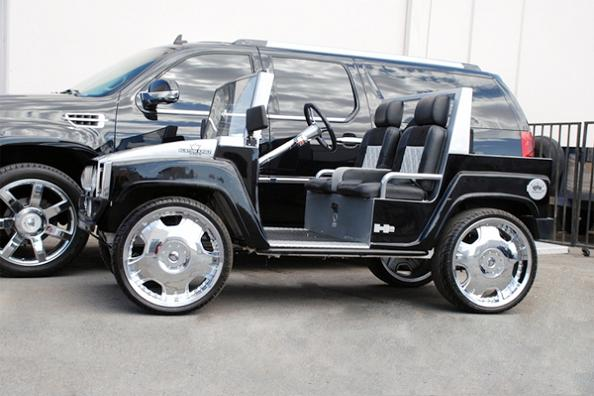 fully customized hummer golf cart Top 10 Customized Luxury Golf Carts