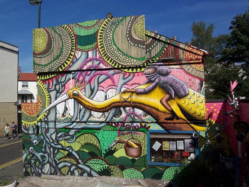 graf artist phlegm Twisted Metal Street Art Murals by DALeast