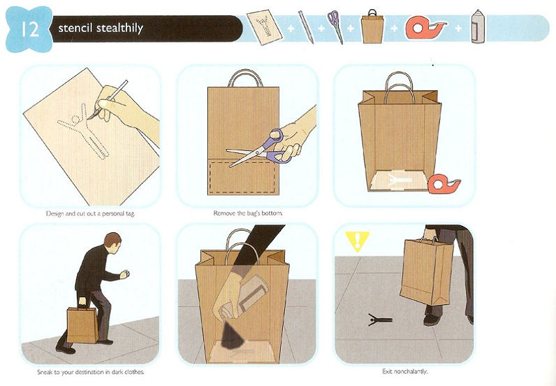 how to stencil stealthily with a bag Picture of the Day   How To Stencil Stealthily