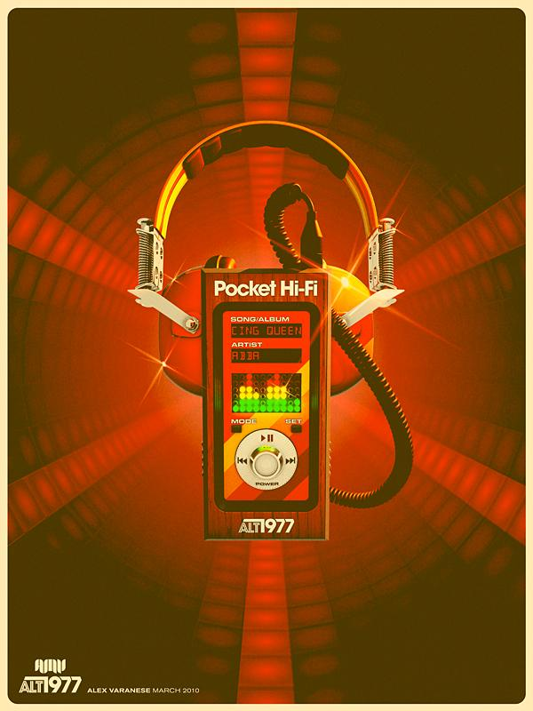 mp3 player from the 70s retro ad Back to the Future: Retro 70s Ads for Todays Gadgets