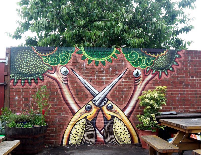 mural by phlegm Incredible Street Art Illustrations by Phlegm