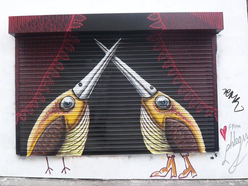 phlegm street art Incredible Street Art Illustrations by Phlegm