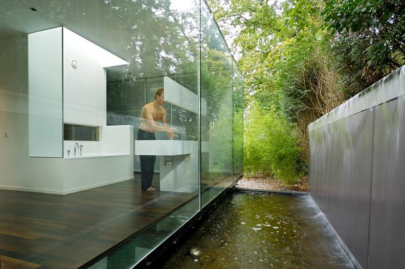 pond runs undernath house A Beautiful Bungalow Built Atop A Pond