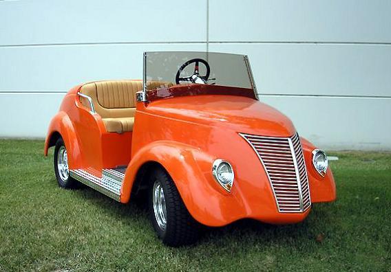 roadster customized golf cart orange Top 10 Customized Luxury Golf Carts