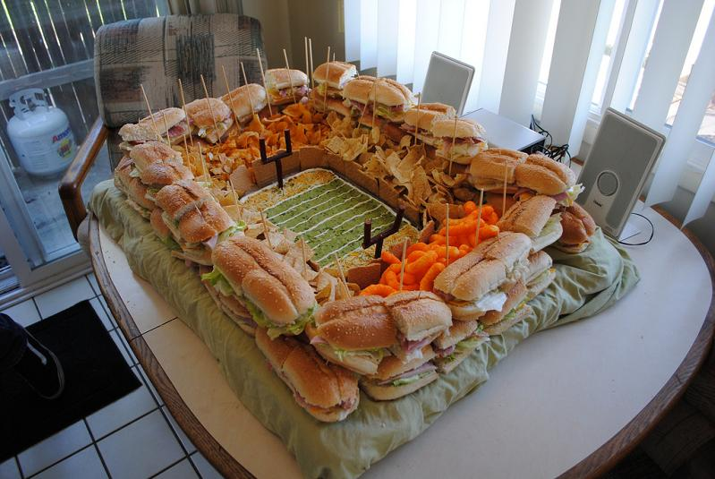 snack stadium made of food Picture of the Day   July 18, 2010