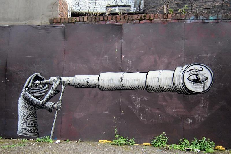 spray paint phlegm Incredible Street Art Illustrations by Phlegm