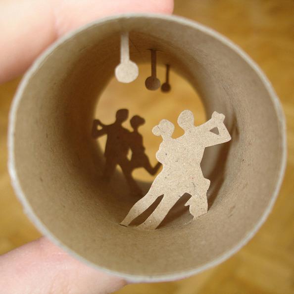 11 miniature roll art Beautiful Miniature Paper Art Scenes [30 pics]